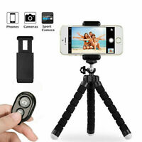 Universal Mobile Phone Tripod Stand Grip Holder Mount For Camera iPhone +Remote