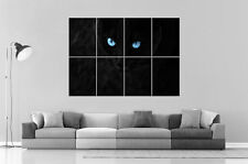 Black Cat Blue Eyes  Home DECO  Wall Art Poster Grand format A0 Large Print