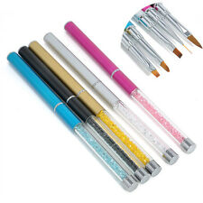 5pcs DIY Nail Art Tips UV Gel Crystal Acrylic Painting Drawing Pen Polish Brush