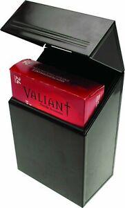 Valiant Fireside Firelighter Tidy Black Gloss Steel Storage Box - FIR242