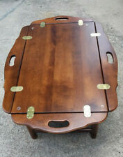 Ethan Allen Country French Butler's Tray Coffee Table Birch Wood
