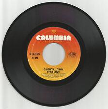 "CHERYL LYNN - STAR LOVE - COLUMBIA USA 7"" 70s MODERN SOUL"