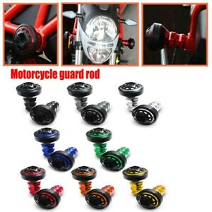 A Pair Motorcycle CNC Exhaust Frame Slider Falling Protector Anti Crash Caps ABS