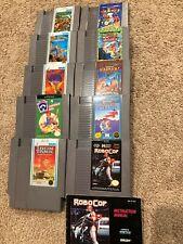Nintendo NES SNK Data East Game Lot - Burgertime Guerrilla Robocop Ikari Warrior