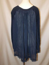 Victoria's Secret~Kiss of Cashmere~Sheer~Knife Pleat~High-Low~Sweater~Top~Small