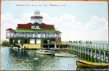 1907 Ottawa Postcard: Britannia Boat House & Pier - Ottawa, Ontario, Canada