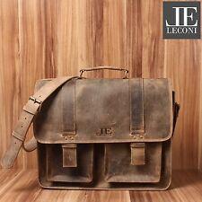 de2a2f84c2eec LECONI große Aktentasche unisex DIN-A4 Messenger Bag Leder braun LE3030-vin