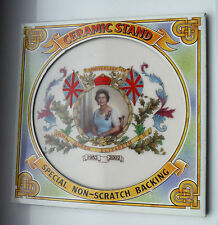 BOXED CERAMIC POT STAND-QEII GOLDEN JUBILEE 2002-SPRINGDALE CHINA  **