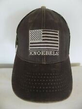 Knoebels Camouflage Hat Brown Green American Us Flag