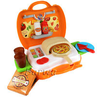 22 Pcs Kitchen Toy Kit Pretend Play Food Set Pizza Making for Kids DIY Xmas Gift