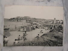 Ancienne carte postale de Quiberon Port Haliguen plage des émigrés et Fort Neuf