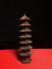 Collectable Exquisite Handwork Boxwood Carving Tower Precious Souvenir Statue