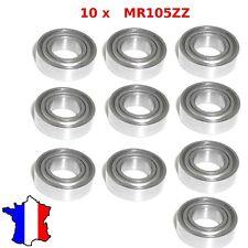 10x Mr105zz ( 2z, 2zr ) roulement à billes 5 mm x 10 mm x 4 mm - Buggy modelisme