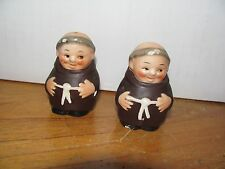Vintage Friar Tuck/Monk Goebel Salt & Pepper shakers set #1