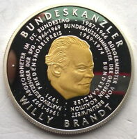 Togo 2006 German President-Willy Brandt 1000 Francs Silver Coin,Proof
