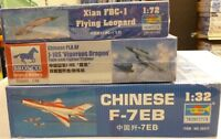 Lot Trumpeter Aircraft 1/32 1/48 1/72 Scale Model Kits Close Out Deal New