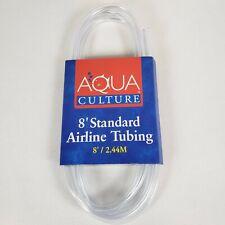 Aqua Culture 8' ft Standard Aquarium Tubing Clear Fish Tank Accessory Pet NIP
