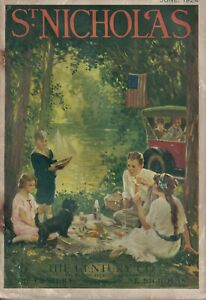1924 St. Nicholas June - French dolls and fashions; Scottie cover; Ford Model T