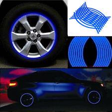 18 Bandes Auto Moto Roue Pneu Autocollants Réflective Protectrice De Jante Bleu