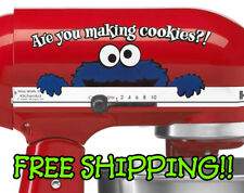 Cookie monster decal for stand mixer. KitchenAid - Are You Making Cookies?