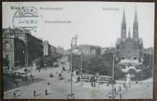 alte Ansichtskarte  Wien I. Maximiliansplatz-Universitätsstraße-Votivkirche 1912