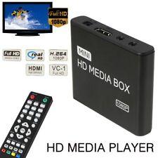 Mini Media Player Full 1080P HD VGA HDMI AV Streamers TV BOX MKV MOV MPEG1 WMV9