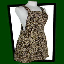 RUN & FLY Leopard Print Twill Pinafore DRESS  Tiger King Exotic Baskin