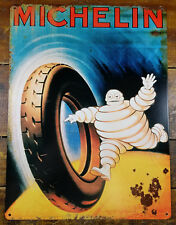 1920s MICHELIN MAN TIRE COMPANY GAS STATION ADVERTISING HEAVY GAUGE METAL SIGN