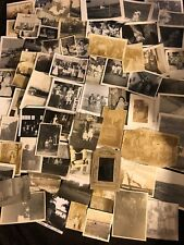 Big Lot 1000 Old Photos BW Vintage Antique Photographs Snapshots Black White Dmg