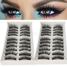 20 Pair Fake Eyelashes False Eye Lashes Soft Black Long Thick Handmade Cosmetic