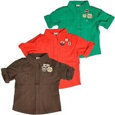 Cotton Blend Patternless Casual Shirts (2-16 Years) for Boys