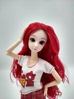 """Fashion Doll Posable Jointed Articulated Plastic 12"""" Red Hair For OOAK Toy 1/6"""
