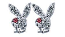 Playboy Ohrstecker Bunnys Strass pink NEU