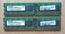 Server RAM 2 GB 2 x1 GB DDR2 PC2 3200 333 DIMM ELPIDA EBE10RD4AGFA-4A-E TX300 S2