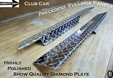 Club Car Precedent Golf Cart Polished Aluminum Diamond Plate FullSide rockers