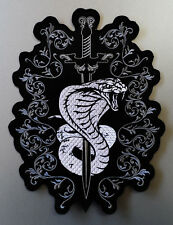 EMBROIDERED BIKER MOTORCYCLE SNAKE BACK JACKET PATCH