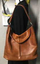 Frye Cara Leather Hobo Purse Cognac Brown Shoulder Bag