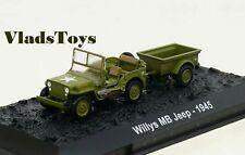 Amercom 1:72 Willys Jeep w/Bantam T3 Trailer USMC 14th Div Iwo Jima ACBG24