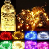 LED String Copper Wire Fairy Lights Battery Xmas Party Fairy Decor Lamp RF