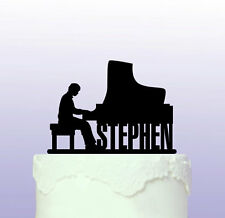 Personalised Piano Playing - Pianist Acrylic Cake Topper