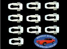77-90 GM Body Side Fender Door Quarter Belt Vinyl Top Molding Trim Clips 10pc AM