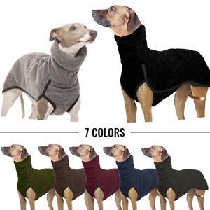 Soft Turtleneck High Collar Dog Clothes Medium Large Dog Winter Warm Pullover