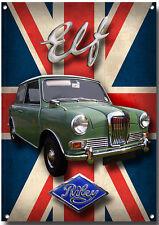 RILEY ELF METAL SIGN.HIGH GLOSS FINISH.VINTAGE/CLASSIC BRITISH CARS.