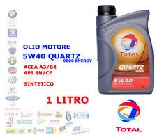 OLIO MOTORE AUTO BENZINA DIESEL 1 LT 5W40 TOTAL QUARTZ 9000 ENERGY ACEA A3/B4