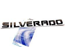 1x OEM Black SILVERADO Nameplate Emblem Badge letter 1500 2500HD Silverado W New