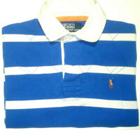 POLO BY RALPH LAUREN MENS LARGE STRIPED SHORT SLEEVE POLO SHIRT FREE POST