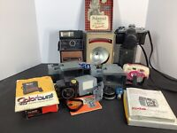 Lot #2 Vintage Collectible Cameras and Camera Equipment Mix Lot NOT TESTED