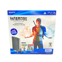 Sony Playstation 3 New Sealed 250GB Super Slim InFamous/Uncharted Bundle Rare