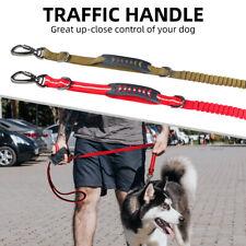 Dual-Handle Dog Leash Reflective Elastic Stretch Nylon Bungee Rope Pets Dog Lead