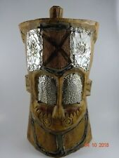 Ghana African Tribal Wood Carving Sculpture Monkey Mask Pier One Import